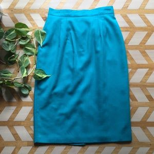VTG | Teal Pencil Skirt